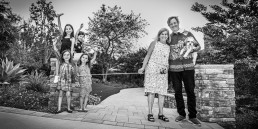 BW picture of family during Covid